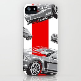 Mustang Digital Painting - Greyscale iPhone Case