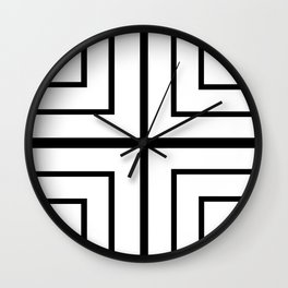 Square - Black and White Wall Clock