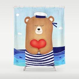 Nautical love Shower Curtain