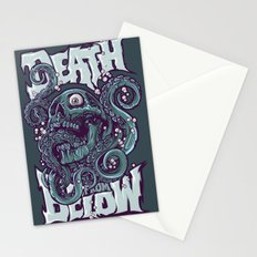 skull octopus illustration Stationery Cards