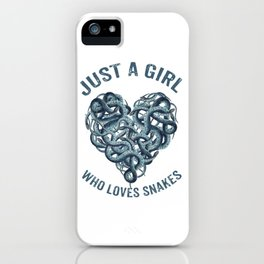 Just A Girl Who Loves Snakes Heart iPhone Case