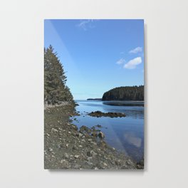 Alaskan Beach Photography Print Metal Print