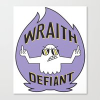 decal Canvas Prints featuring Wraith Defiant decal by jordannwitt
