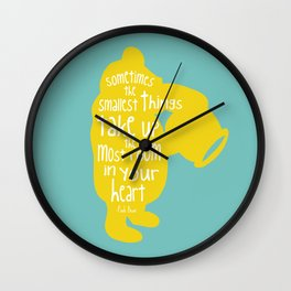 Sometimes the Smallest things - Winnie the Pooh inspired Print Wall Clock