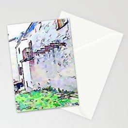 Camerata Nuova: glimpse with gray buildings Stationery Cards