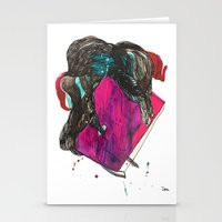 it crowd Stationery Cards featuring crowd by Zane Veldre