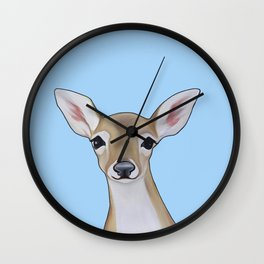 Portrait of a Fawn Wall Clock