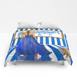 Series: Woman Quartet, No.2 in blue and white Comforters