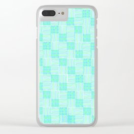 Interpretive Weaving (Lazy May) Clear iPhone Case