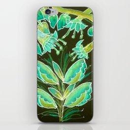 Irish Garden, Lime Green Flowers Dance in Joy iPhone Skin