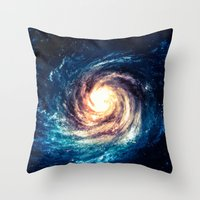 xbox Throw Pillows featuring Spiral Galaxy by Zavu
