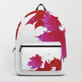 PURPLE-fuchsia maroon color blowing leaves Backpack