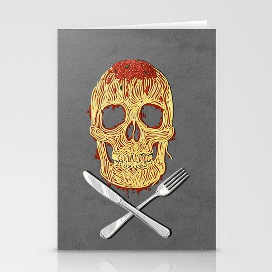 Spaghetti Skull Stationery Cards