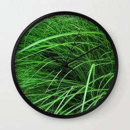 470 - Abstract Grass Design Wall Clock
