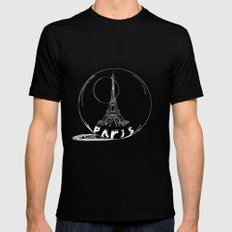Paris in a glass ball Mens Fitted Tee MEDIUM Black