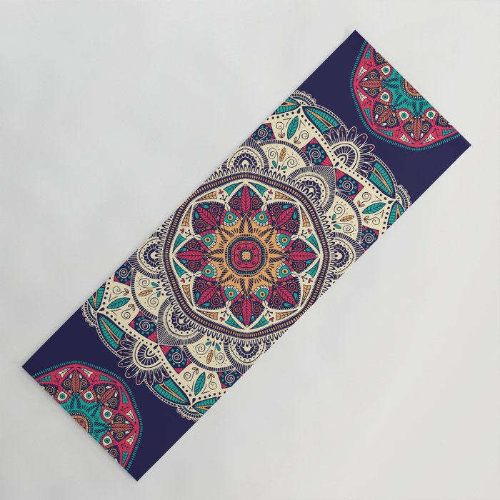 Colorful Mandala Pattern 007 Yoga Mat