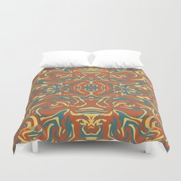 Multicolored Abstract Ornate Pattern Duvet Cover