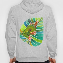 Frog On A Leaf Hoody