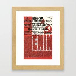 Russia, URSS Vintage Poster, Lenin, Newspaper Framed Art Print