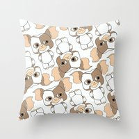 gizmo Throw Pillows featuring gizmo by guizmo04