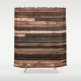 Vintage Wood Plank Shower Curtain