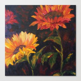 Sunfower family Canvas Print