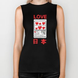 """Love Japan: Vending"" ( 50% of the profits for this design will go to the Japanese Red Cross ) Biker Tank"