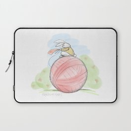 Bunny on a Ball Laptop Sleeve