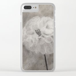 Charcoal Flower Clear iPhone Case