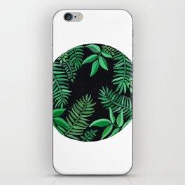 Watercolor Palm Circle iPhone Skin