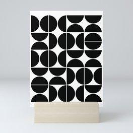 Mid Century Modern Geometric 04 Black Mini Art Print