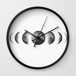 Phases of the moon - Scandinavian art Wall Clock