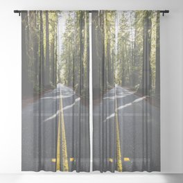 Redwoods Road Trip - Nature Photography Sheer Curtain
