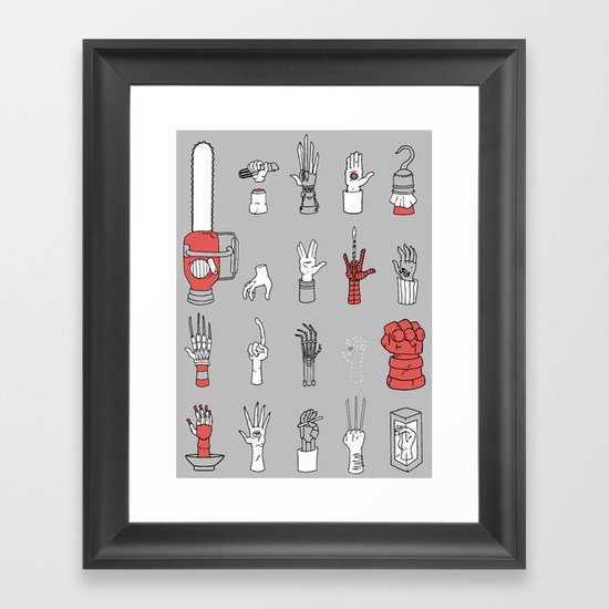 Give Me A Hand Framed Art Print