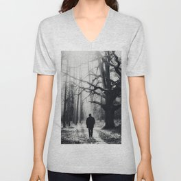 The past is now Unisex V-Neck