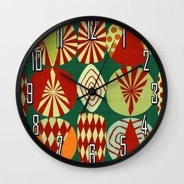 Christmas tree Minimalist green Wall Clock