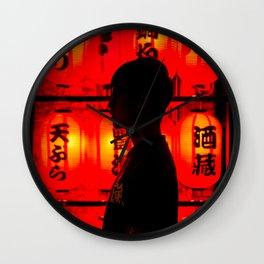 Red Lanterns Wall Clock