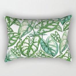 Green tropical leaves IV Rectangular Pillow