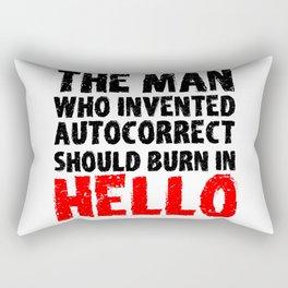 Autocorrect Autocorrection Mobile Phone Smartphone Rectangular Pillow