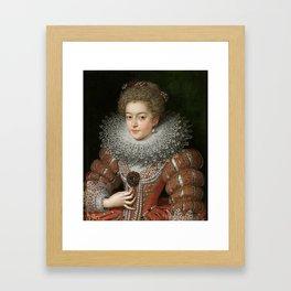 POURBUS EL JOVEN, FRANS Amberes, 1569 - París, 1622 Isabella of France, Queen of Spain Ca. 1615 Framed Art Print
