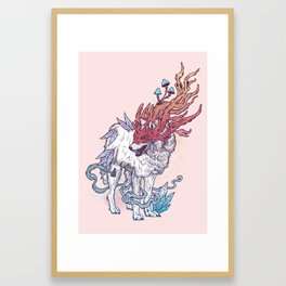 Spirit Animal - Wolf Framed Art Print