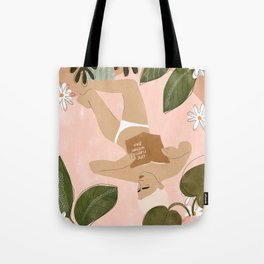 Life Is Better Without Bra Tote Bag