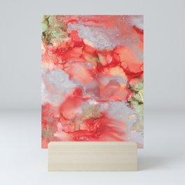 Alcohol Ink 'Big Red' Mini Art Print