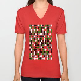 Industrial Green - Geometric, abstract, patterned artwork Unisex V-Neck