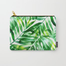 Monstera and palm watercolor Carry-All Pouch