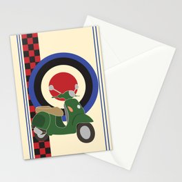 Scooter and mod symbols. Stationery Cards
