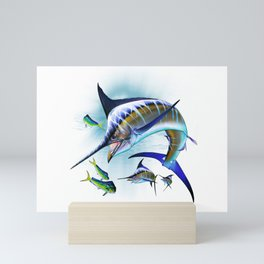 Marlin and Mahi Mahi Mini Art Print