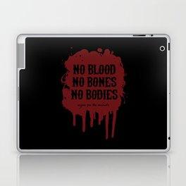 Vegan for the Animals: no blood, no bones, no bodies Laptop & iPad Skin