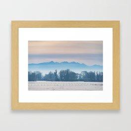 Spanish Peaks Fog Framed Art Print