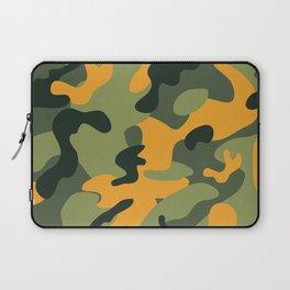 Green & Orange Camo Laptop Sleeve